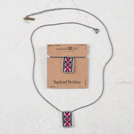 Vagabond Necklace Pink Red