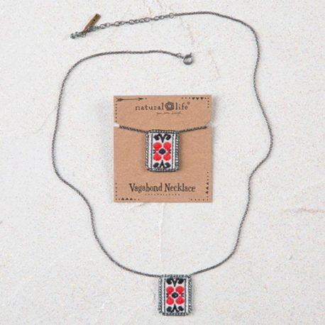 Vagabond Necklace Red Cream