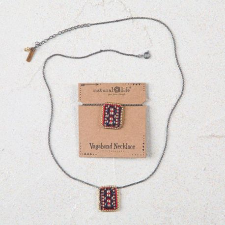 Vagabond Necklace Red Navy