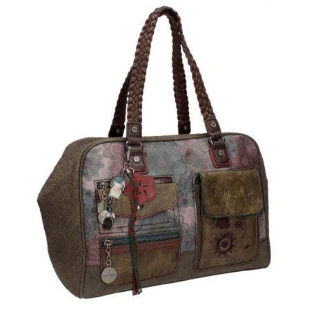 KD BAG W/2 HANDLES BROWN/COLORED - TAMAKO