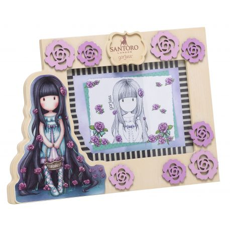 WOODEN PHOTO FRAME DECORATION ROSEBUD