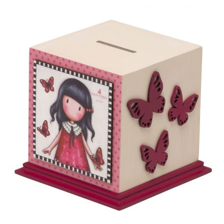 WOODEN MONEY BOX TIME TO FLY