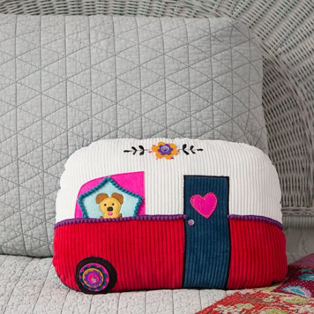 Happy Pillow Camper Cream/Red