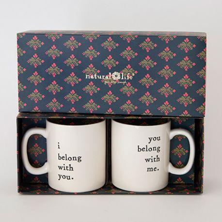 Set of 2 Mugs I belong/You belong