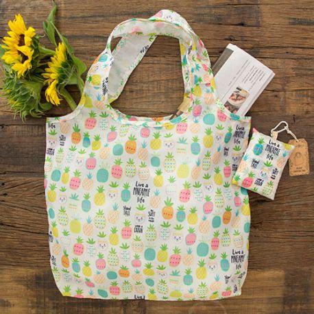 Foldup Shopping Bag Pineapple