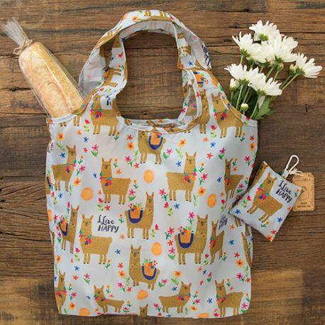 Foldup Shopping Bag Live Happy