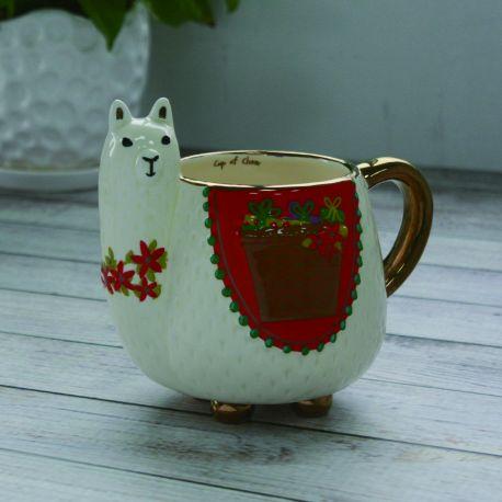 Holiday 2018 Llama Folk Art Mug