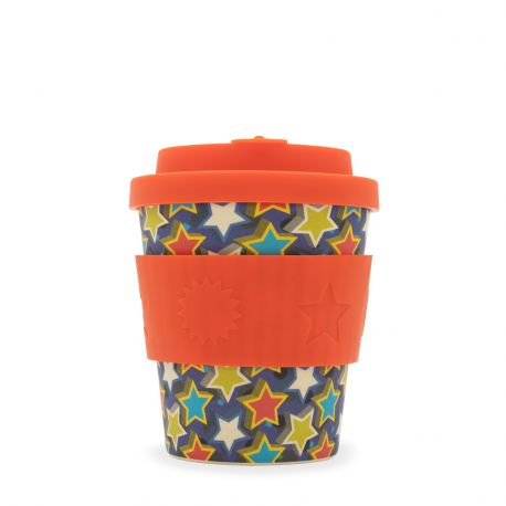 Bamboo Cup with Lid Little Stars