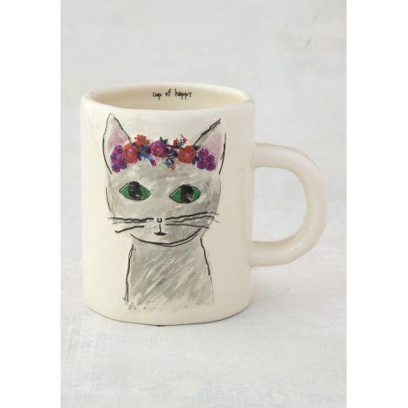 Happy Prairie Mug Grey Cat