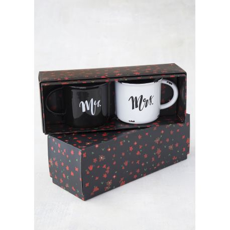 Set of 2 Mugs Camp Mr/Mrs