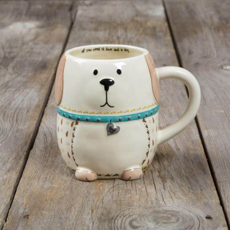 Folk Mugs All You Need Is Love And a Dog