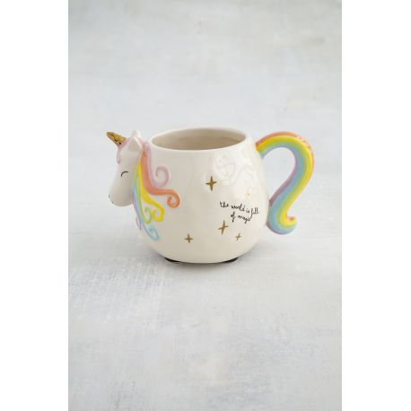 Folk Mug Pastel Unicorn