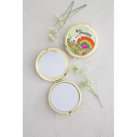 Compact Mirror beYOUtiful Unicorn