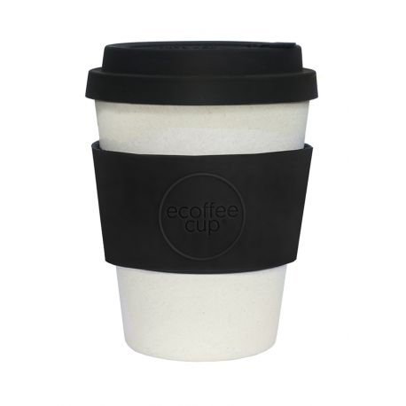 Bamboo Cup With Lid Black Nature