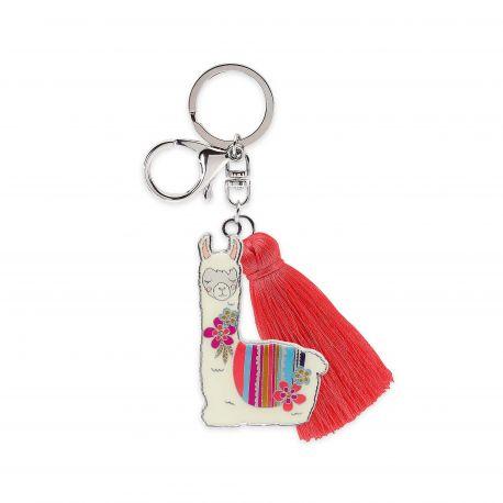 Enamel Keychain Llama