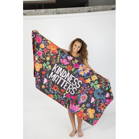 Micro Beach Towel Kindness Matters