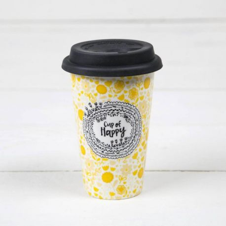 Ceramic Thermal Mugs Cup Of Happy