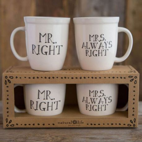 Set Of Mugs Mr & Mrs