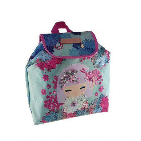 Small Backpack W/Flap Akemi