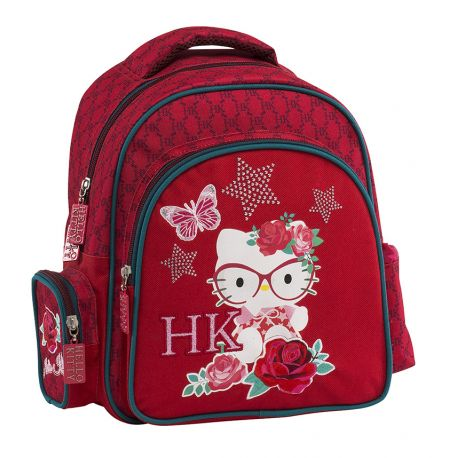 Round Small Backpack Red