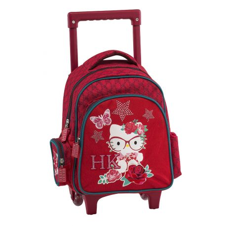 Small Trolley Backpack Red