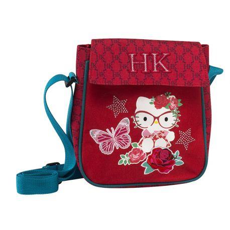 Shoulder Bag W/Flap Red