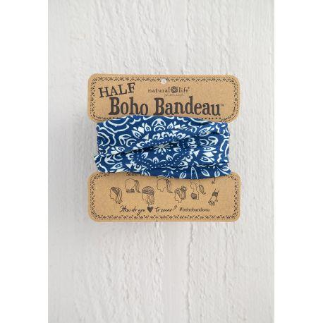 Half Bandeau Navy Cream Mandala