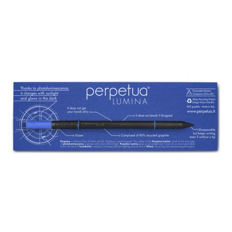 Blue Perpetua Lumina ENG PENCIL W/RUBBER