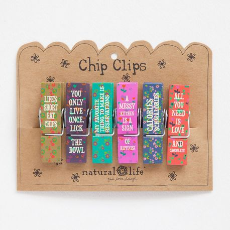 Chip Clip S/6 Food Fun