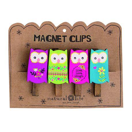 Magnet Clip S/4 Owls
