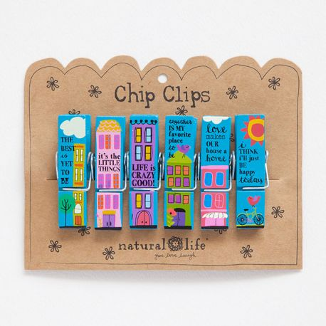 Chip Clip S/6 City Sentiments