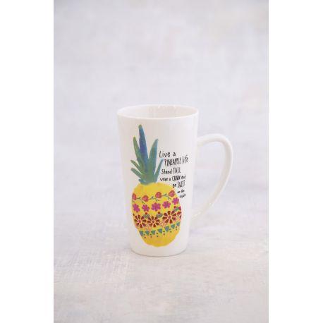 Latte Mug Pineapple Life