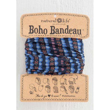 Boho Bandeau Black Indigo Stripe