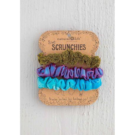 Scrunchie Turq TD Copper Purple