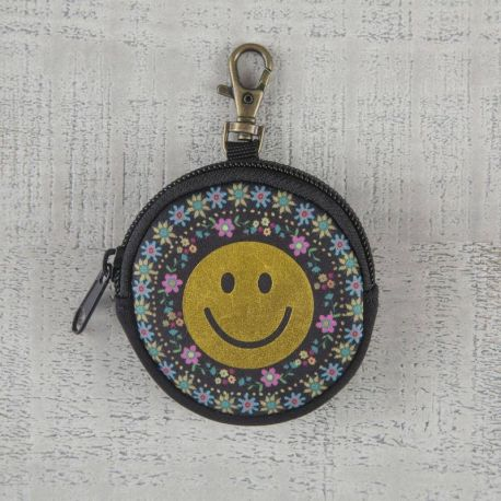 Ear Bud Pouch Smiley Gold