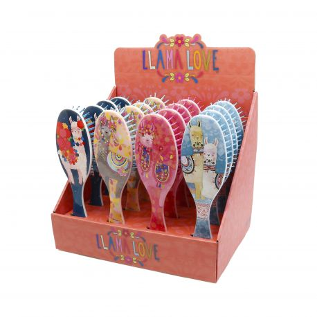 HAIRBRUSH DISPLAY LLAMA LOVE PC. 16