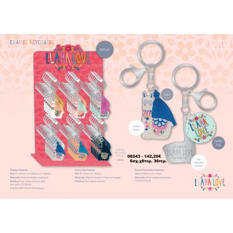 DISPLAY KEYCHAIN LLAMA 36 pc.