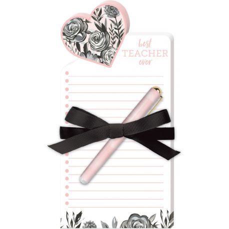 DIE-CUT NOTE PADS WITH PEN (TEACHER)