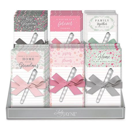 FAMILY TOGETHER MAGNETIC LIST PADS WITH PEN DISPLAY