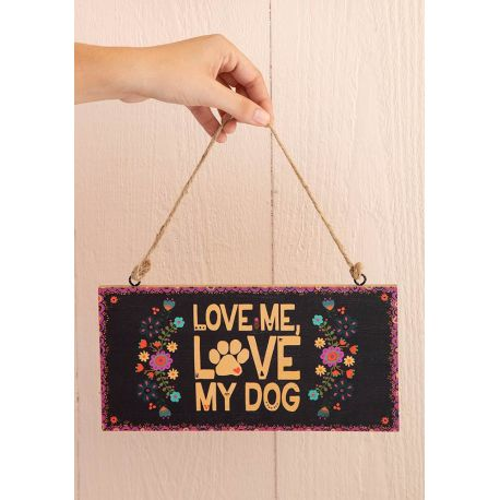 Welcome Sign Love Dog