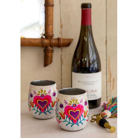 Wine Tumblers S/2 Hearts