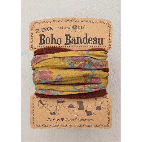 Fleece Boho Bandeau Gold Blooms