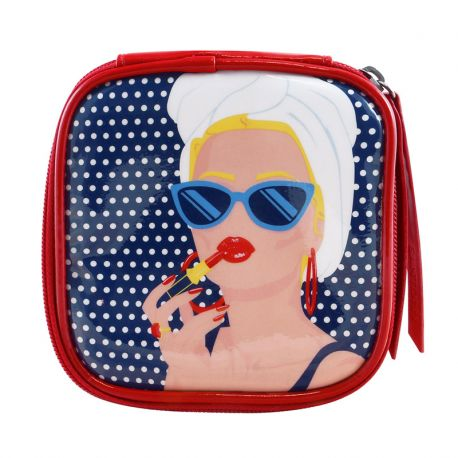 FIRST CLASS LOUNGE LARGE ZIPPED CASE-LADY RED