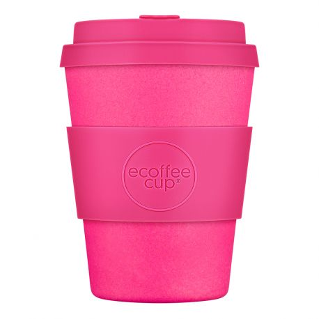 BAMBOO CUP WITH LID PINK'D 340ml