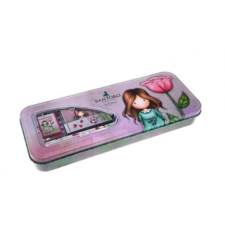 Metal Pencil case (2 pencils, eraser, sharpener, ruler) Thumbellina