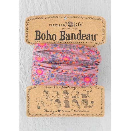 Boho Bandeau Pink Flower Stamp