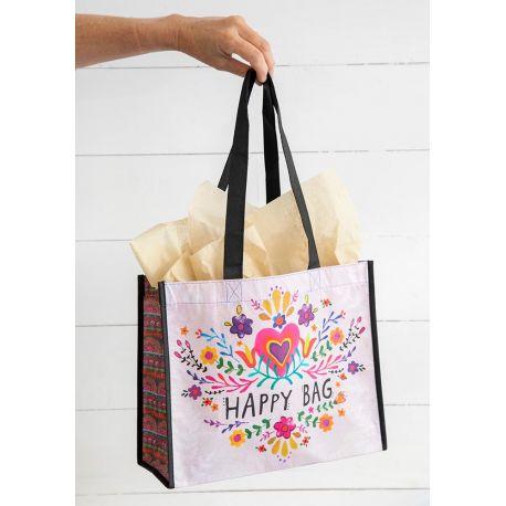 Happy Bag L Hot Pink Heart