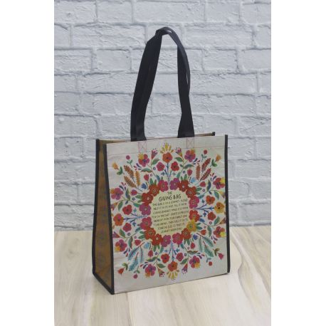 Giving Bag XL Cream Floral