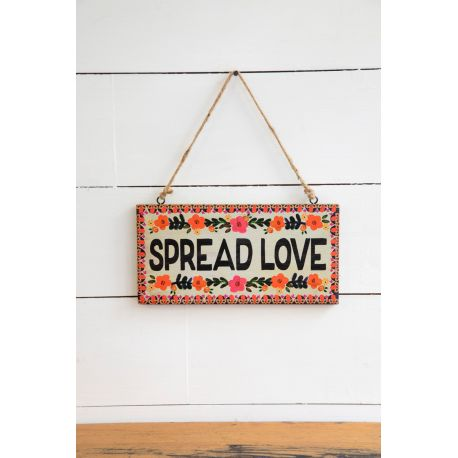 Wooden Wall Hanging Spread Love