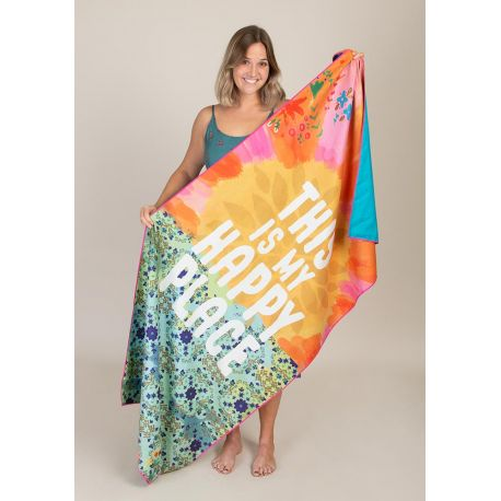 Micro Beach Towel Sun Happy